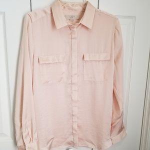 Loft  Outlet Pink Button Up Shirt M